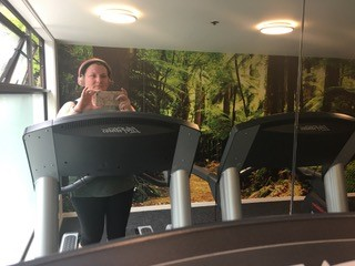 Sarah on treadmill